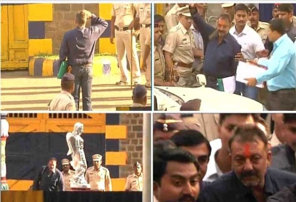 Actor Sanjay Dutt released from Pune's Yerwada Central Jail