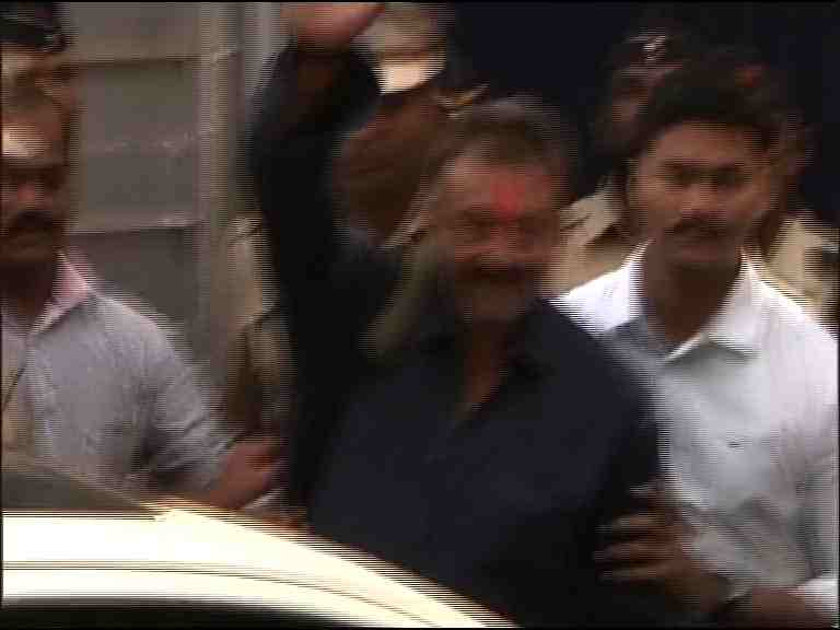 Actor Sanjay Dutt released from Pune's Yerwada Central Jail in the 1993 Mumbai serial bomb blasts case