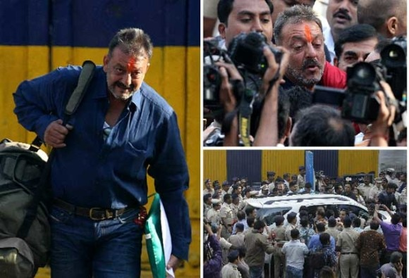 Sanjay Dutt salutes national flag at jail, says there is no easy walk to freedom