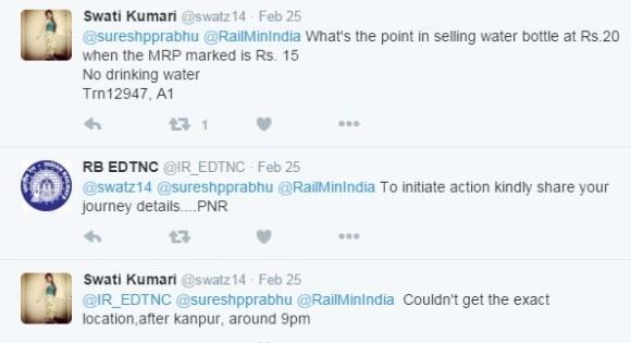 Railway Action on one Tweet