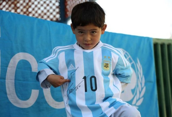Lionel Messi sends jerseys to five-year-old Afghan fan Murtaza