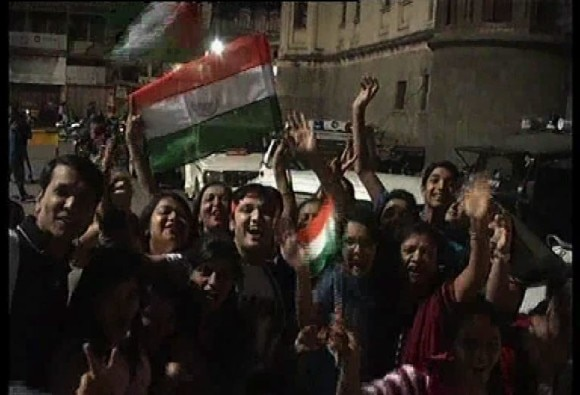 INDvsPAK: country celebrate indias victory