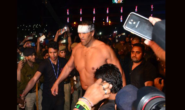 in comeback fight, khali ends the game in two minutes