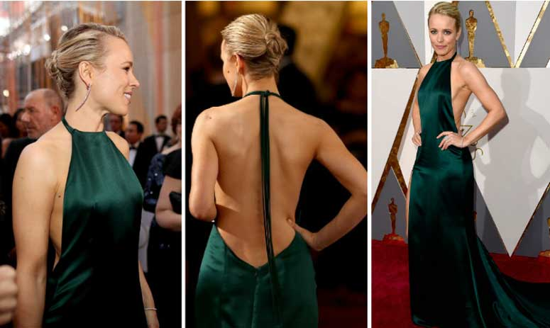 Rachel McAdam dares to bare in backless