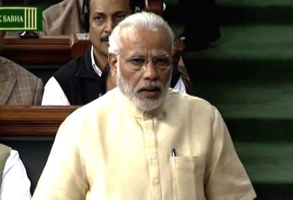 PM Modi in Lok Sabha on President address