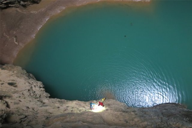 Rare large sinkhole found in south China