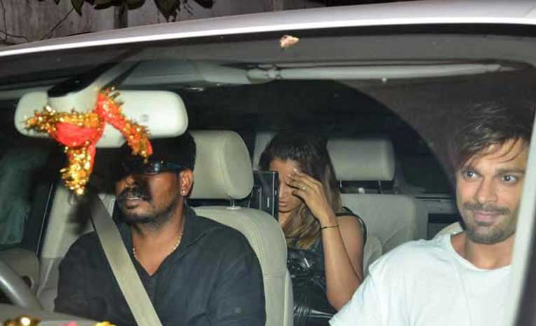 Bipasha & Karan SIngh Grover snapped post spa visit