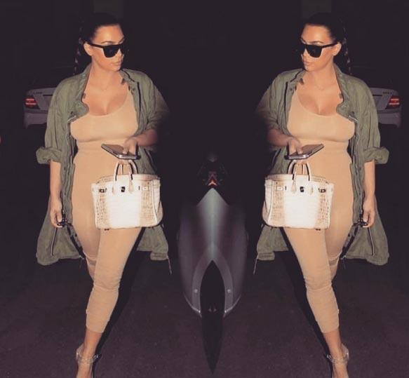 Kim Kardashian shares nude selfie on Instagram