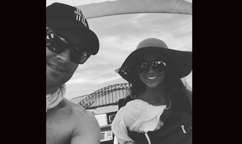 michael clarke shares pics of family day out