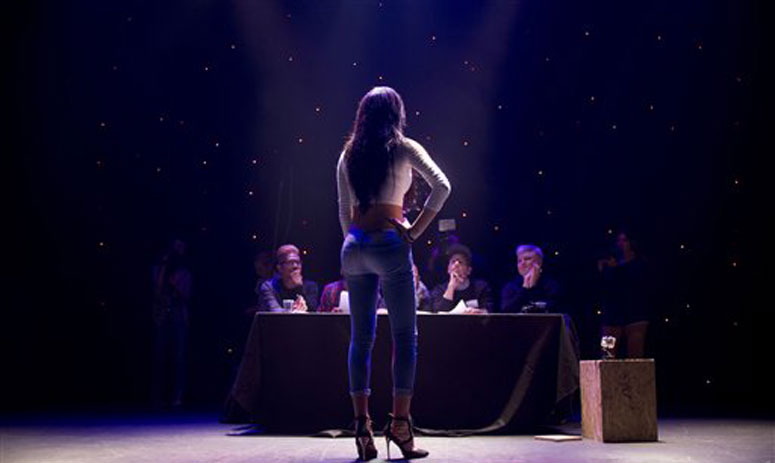 Contestants participating in the first Miss Trans Israel beauty pageant in Tel Aviv, Israel