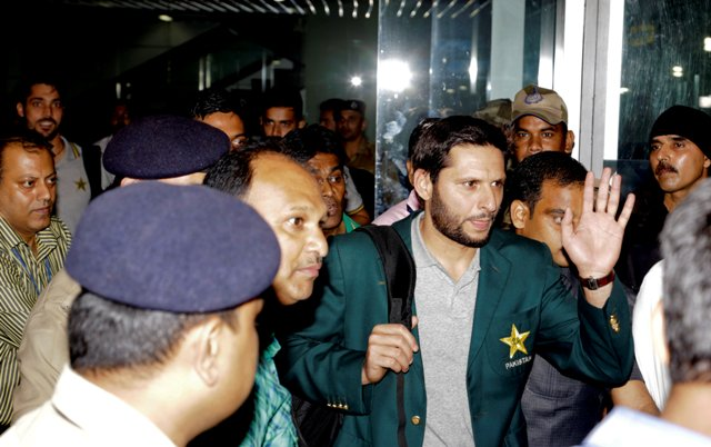 IN PICS: Pakistan team arrives in India