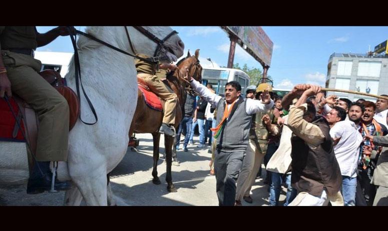 BJP MLA Ganesh Joshi booked for 'attacking police horse, breaking its leg'
