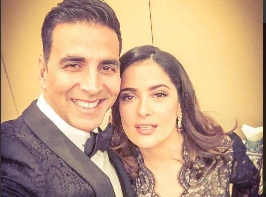 Akshay selfie with Salma