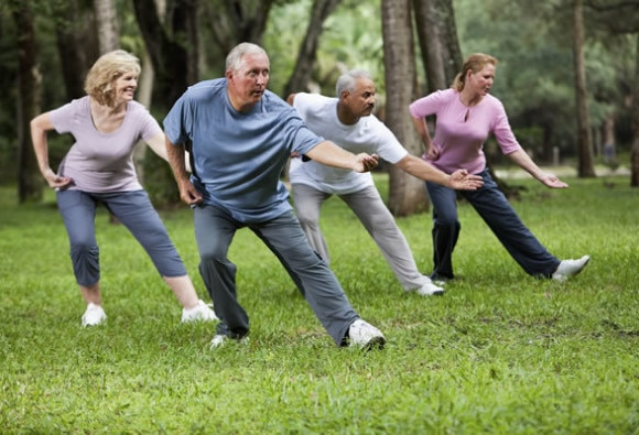 Practising tai chi reduces risk of falling in older adults