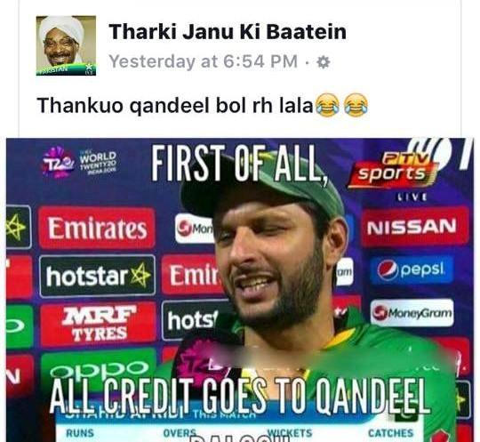 Pakistani Fans trending Qandeel Baloch on Social Media!