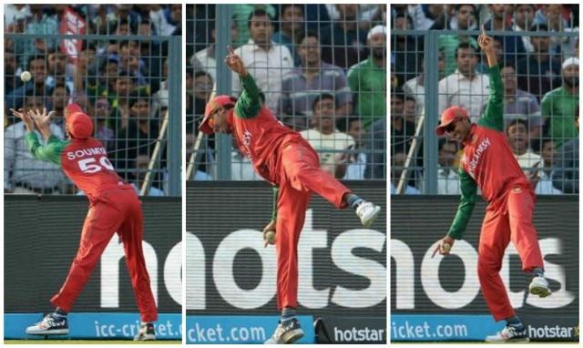 WT20: Soumya Sarkar takes epic catch against Pakistan