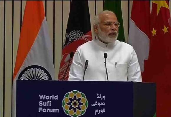 PM Narendra modi at World Sufi Summit
