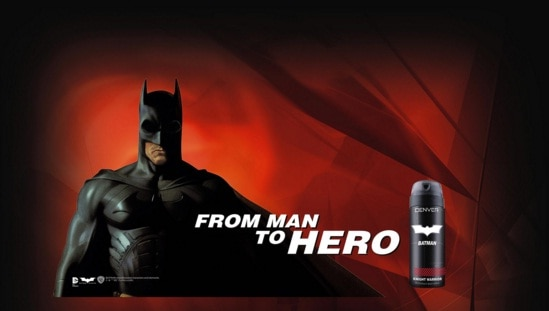 Superhero fans can now own Batman deodorants