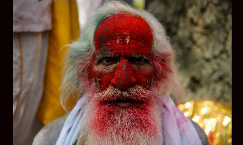 pictures of legendary festival Lathmar Holi from Barsana