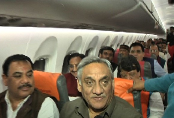 BJP meets Uttarakhand Governor stakes claim to form government