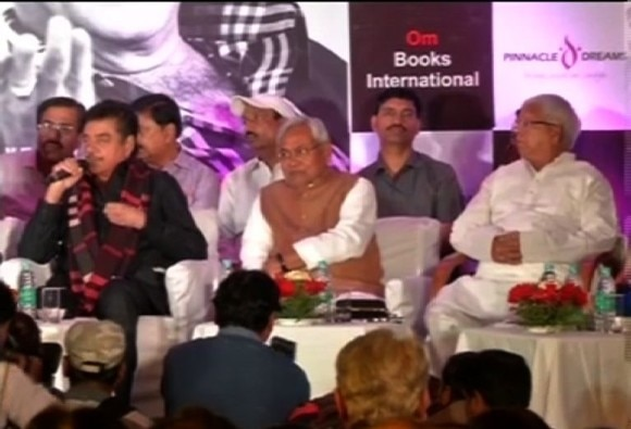 Nitish Kumar, Lalu Prasad ask Shatrughan Sinha not to be 'silent'