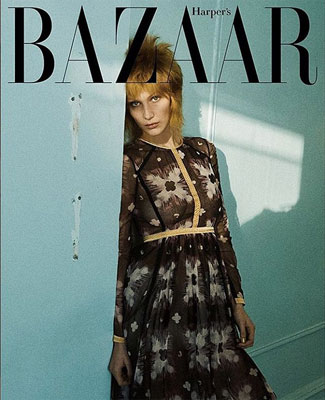 bella hadid Naked For 'harpers bazaar' Magazine