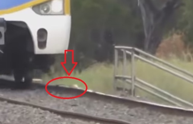 Shocking video shows school children trying to derail a train