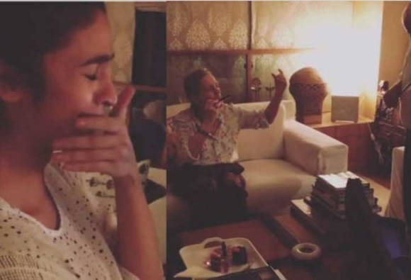 Alia Bhatt Cried and Cried as Her Grandparents Sang Happy Birthday