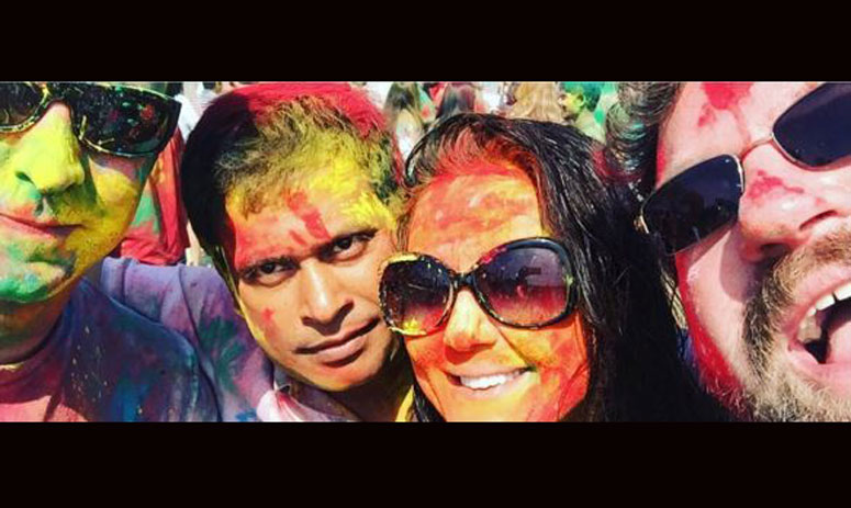 Preity Zinta Celebrates Holi With Husband Gene, shares pics on instagram