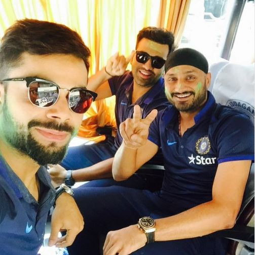 IN PICS: Team India celebrating Holi