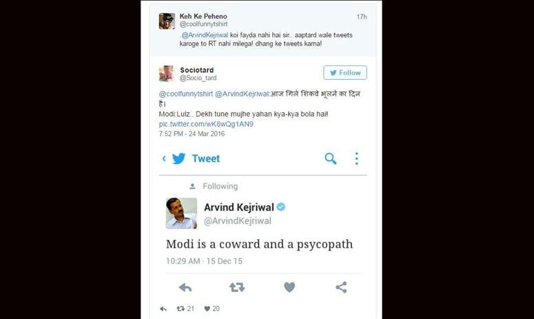 social media reacts after modi follows kejriwal on twitter