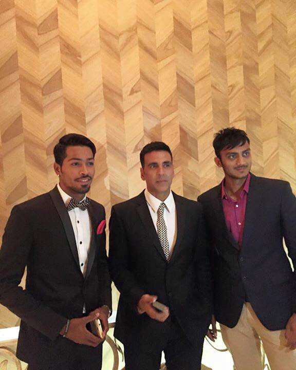 The model caught and bowled Hardik Pandaya!