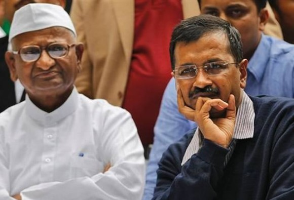 Anna Hazare expressed his anger about bribe elligations on Arvind kejariwal