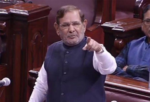 Sharad Yadav removed as JDU party leader in Rajya Sabha