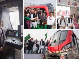 लखनऊ मेट्रो: ट्रायल रन को सीएम अखिलेश ने दिखाई हरी झंडी