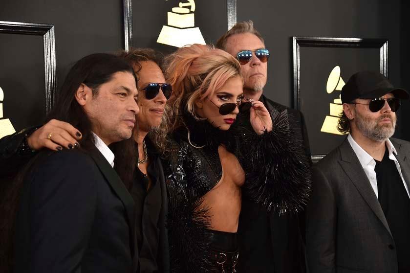 Robert Trujillo, Kirk Hammett, Lady Gaga, James Hetfield, Lars Ulrich