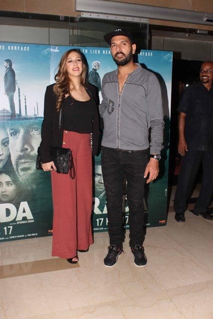 Yuvraj Singh and wife Hazel Keech