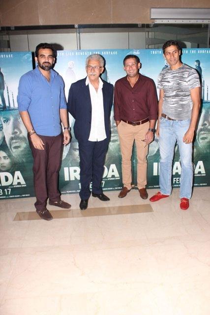 Zaheer Khan, Naseeruddin Shah, Ajit Agarkar and Ashish Nehra