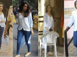 BMC elections: वोट करने पहुंची अभिनेत्री श्रद्धा कपूर, भीड़ होने पर क़तार मे खड़ी रहीं