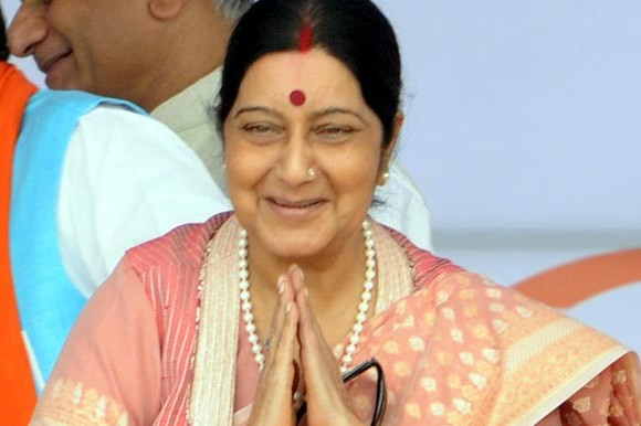 sushma swaraj issued visa for ailing woman for treatment in india