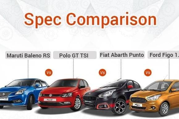 maruti-baleno-rs-vs-volkswagen-polo-gt-tsi-vs-fiat-abarth-punto-vs-ford-figo-15d-spec-comparison