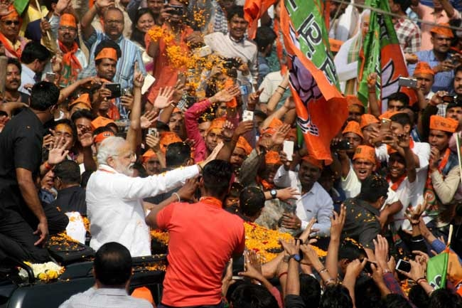 PM Modi's road show in Varanasi