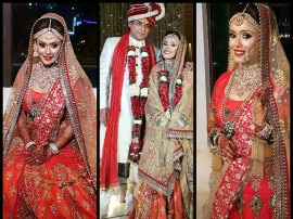 परिवार और कुछ खास दोस्तों की मौजूदगी में इस एक्ट्रेस ने अपने ब्वॉयफ्रेंड से रचाई शादी, देखें PICS