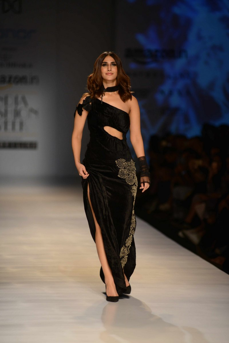 Vaani Kapoor walks the ramp in a fashion show