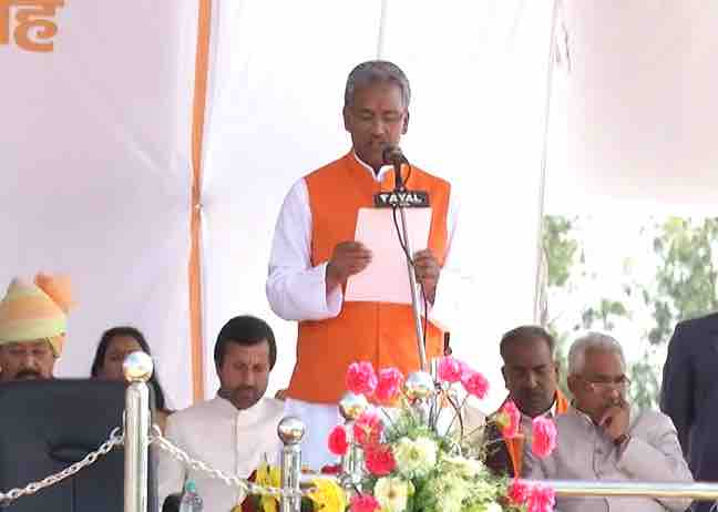 Trivendra Singh Rawat becomes CM , know cabinet of Uttarakhand in pics