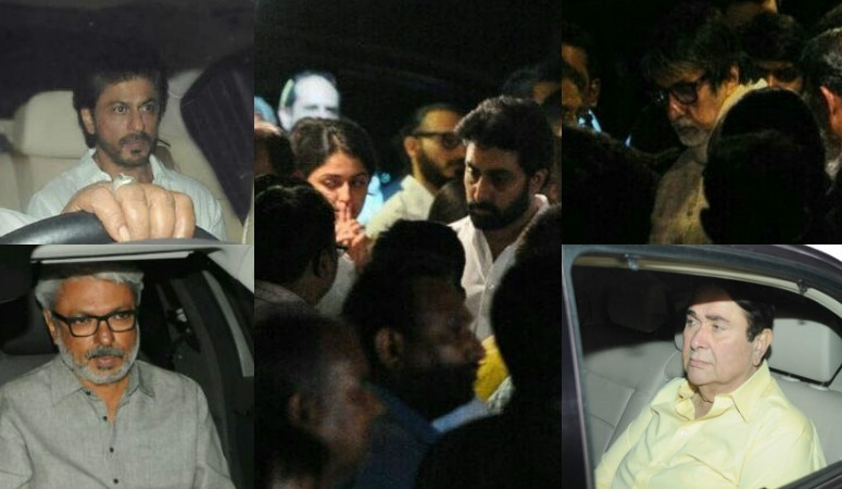 SEE PICS: Aishwarya Rai Bachchan's father passes away, Shah Rukh Khan, Amitabh bachchan And Others Arrive To Pay Last Respect To Krishnaraj Rai
