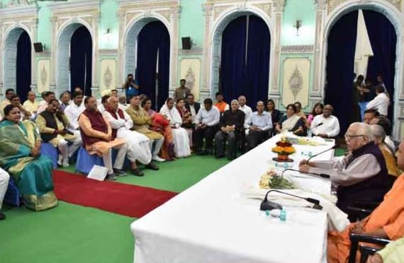 adityanath yogi's government in action, met officers for the law and order maintenance and other issues
