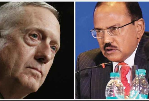 American defense minister to meet NSA Ajit Doval in Pentagon