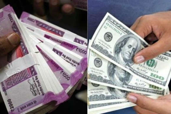 rupee at 21 months high level, today closed at 64.05 after 26 paisa gain
