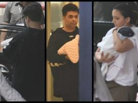 अपने जुड़वा बच्चों यश और रूही को लेकर घर पहुंचे करन जौहर, देखें पहली तस्वीरें
